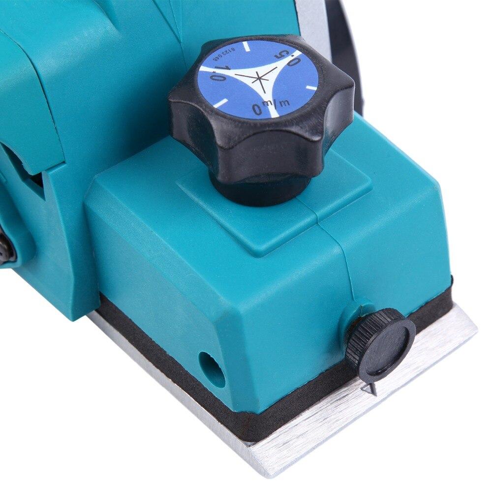 (Expédier de nous) 800 w puissant rabot à bois électrique 3-1/4 pouces Surface de travail du bois Machine à bois professionnelle - 6