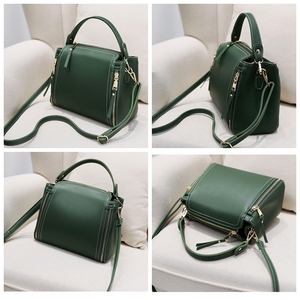Image 2 - Small Mini Bucket Women Messenger Bags With Long Strap Designer Crossbody Bags Green Shoulder Bags Female Fashion Korean 2018