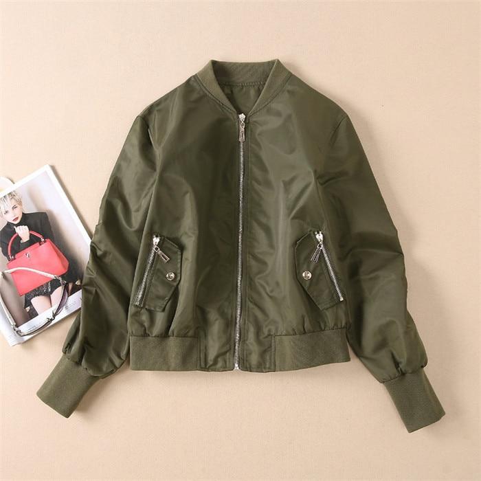 Tout Luxe Vert De Solide Black Noir Bomber green Vestes Loisirs Mode Vintage Femmes Veste Piste Automne Et Casual Baseball Manteau XO8anI