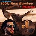 Originales Natural Madera Bambú Bamboo Lentes Gafas de Sol Polarizadas Polarizados Mujeres Hombres Con Bamboo Caja Nuevo 2016