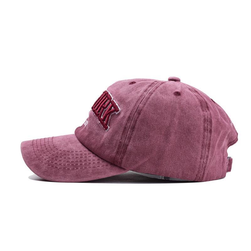 oZyc Sand washed 100 cotton baseball cap hat for women men vintage dad hat NEW YORK