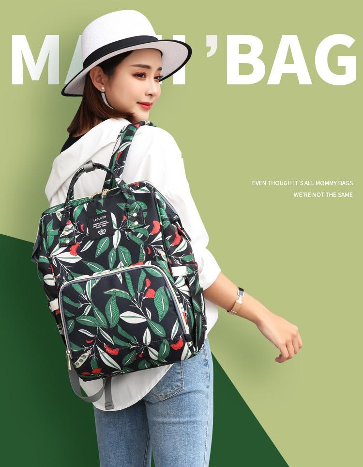 HTB1ShXXaRGw3KVjSZFwq6zQ2FXa2 Diaper bag backpack mommy bag Maternity large nappy bag Bolsa Maternida Printed Bebe baby bag Travel Backpack Baby Care wetbag