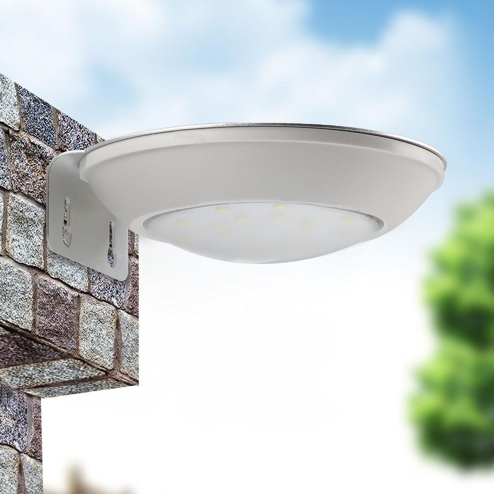 2017 LED Solar Porch Light Courtyard Microwave Radar Sensor Lamp Outdoor  Exterior Body Induction Wall Lamp