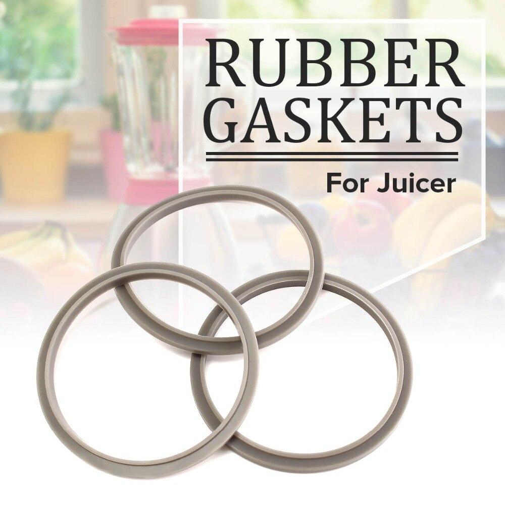 Durable Quality 3Pcs Grey Rubber Gaskets For Nutribullet Blender Juicer NBR-12 MB1001 Juicer Parts