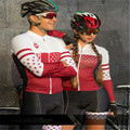 2019 Coppia di usura FRENESI uomini vestiti di riciclaggio di estate maglia a manica lunga Calzamaglia bici jersey set uniforme ciclismo triathlon suit
