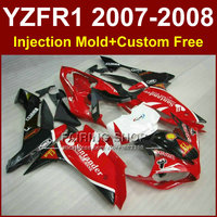 Sika red white fairing set for YAMAHA YZFR1 2007 2008 fairings kits R1 YZF R1 YZF1000 YZF 1000 07 08santander bodyworks