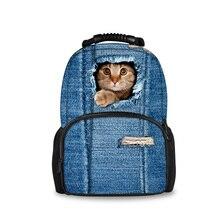 Forudesigns опрятный школьные сумки для подростков девочек Kawaii Собаки Кошки печати Рюкзак Книга сумка большая емкость Mochila Escolar