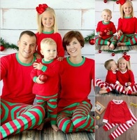 2016 Christmas Family Pajamas Family Clothing Sets Mother Daughter Father Son Clothes Family Clothing Family Style