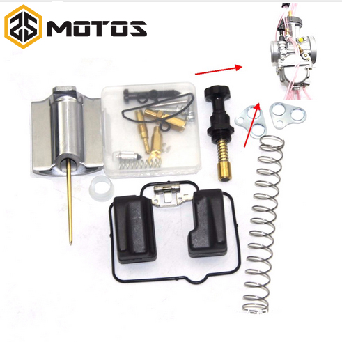 ZS MOTOS Moto Pièces 36 38 40mm PWK CARBURATEUR KEIHIN De Moto Universel Kit De Réparation De Rechange Jets 20 lot/Sets Un Pack