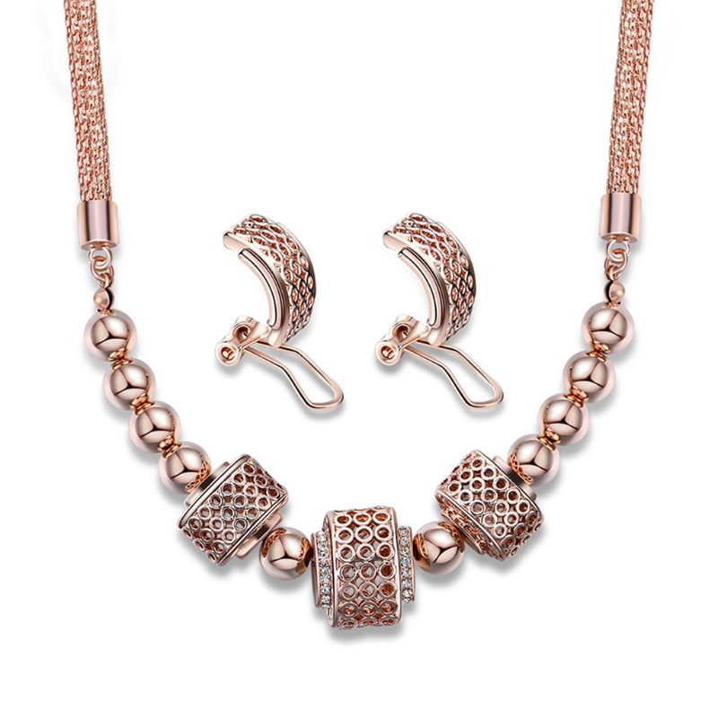 1 Set Necklace Earrings For Bride Wedding Women Jewelry Exquisite Ring Pendant ear stud