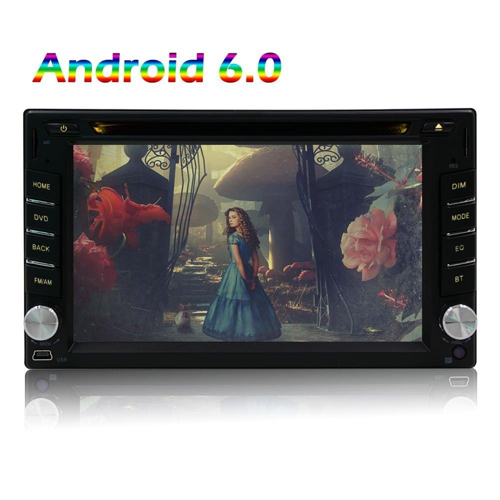 2 DIN Android 6.0 Автомобильный навигатор стерео Bluetooth Радио видео музыка Развлечения Wi-Fi и CD dvd-плеер Поддержка MirrorLink