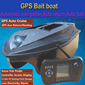 GPS Auto Cruise RC Bait Boat 380E GPS Navigation Dual Body Remote Control RC Intelligent Nesting Fishing Boat With 12 Nest Point