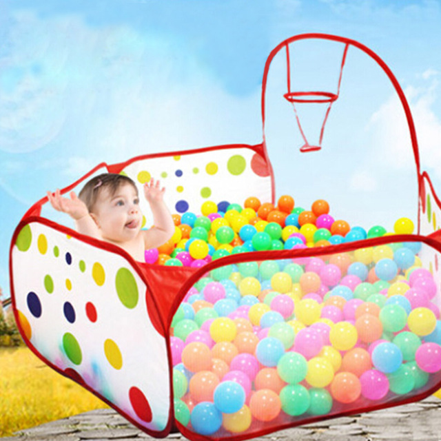 child indoor tent. Foldable Kids Play Game Ball Pit Polka Dots fencing for Children  Indoor Tent Ocean