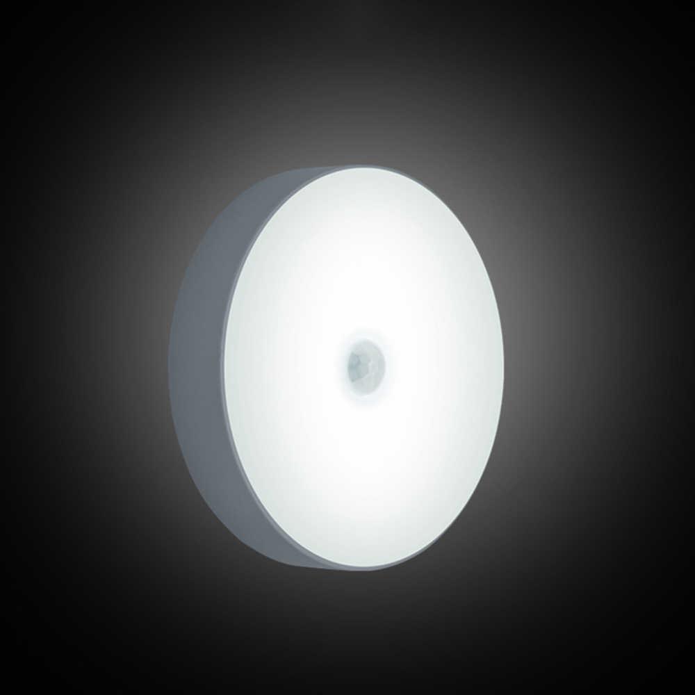 Датчик движения ночник на батарейках светодиодная лампочка для подножки настенный легкий магнит гардероб огни для лестницы коридор, ванная