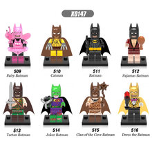 Single Sale Super Heroes Fairy Catwoman Pajamas Tartan Joker Dress The Batman Bricks Building Blocks Toys for children X0147(China)