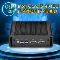 XCY Mini PC Core i3 4010U i5 4200U i7 4500U Windows 7 8 10 Linux Mikro Pulpit HDMI WIFI Podwójny COM Dual LAN Nettop PC