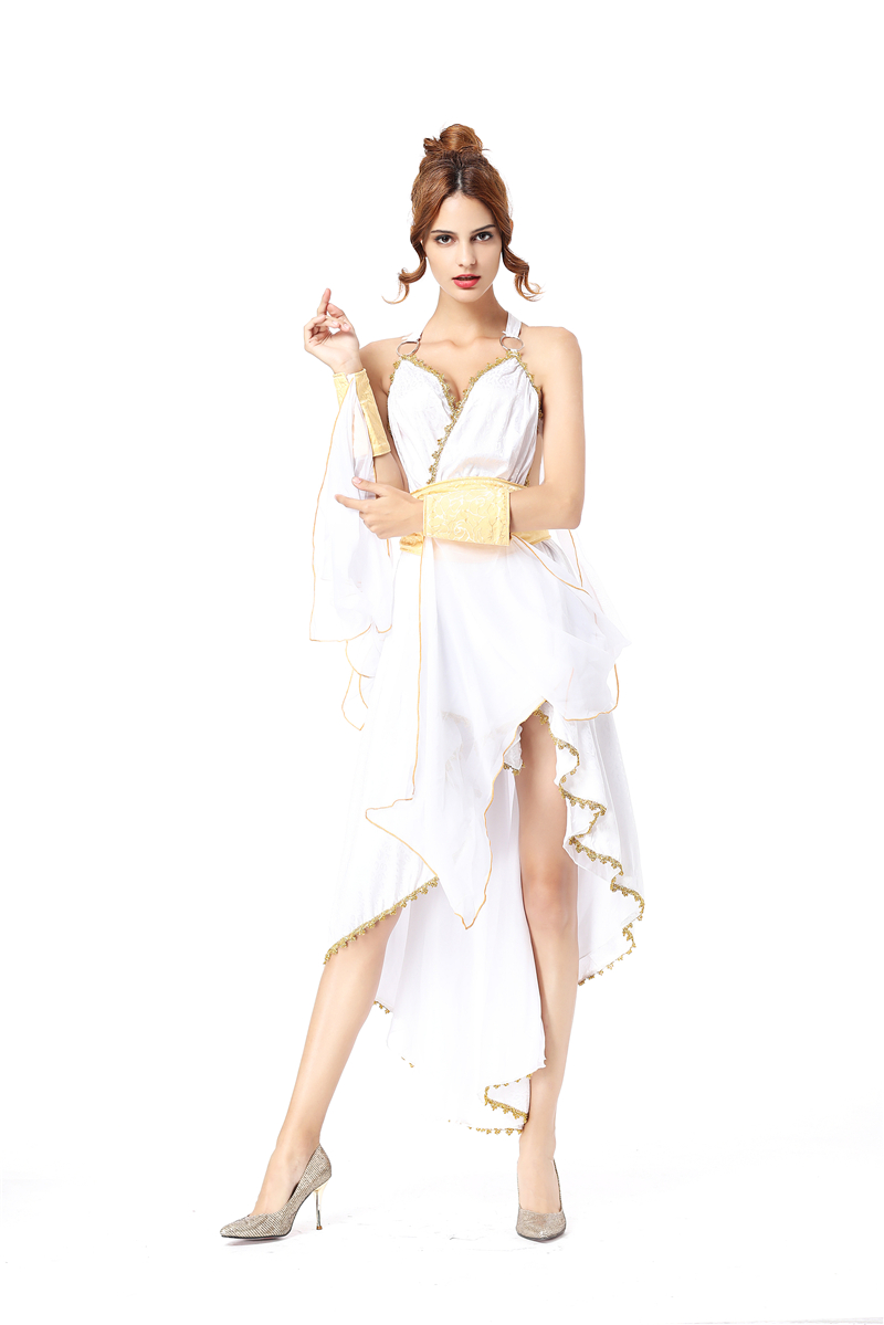 sexy glamorous greek goddess costume for girls served as halloween