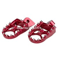 For GasGas EC 1997 2015 (all models) Foot pegs Foot Pegs Wide Fat 57mm Anodized Red