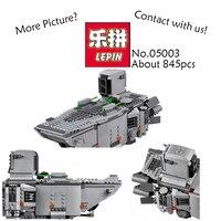 LEPIN 05003 845pcs Star Wars Force Awakens First Order Transporter Building Blocks Bricks Marvel Classic Model