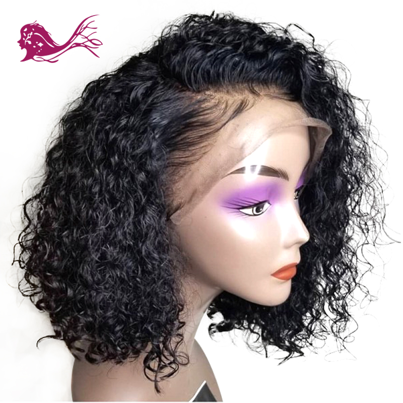EAYON-HAIR-Lace-Front-Remy-Human-Hair-Bob-Wigs-Deep-Curly-For-Black-Women-With-Baby