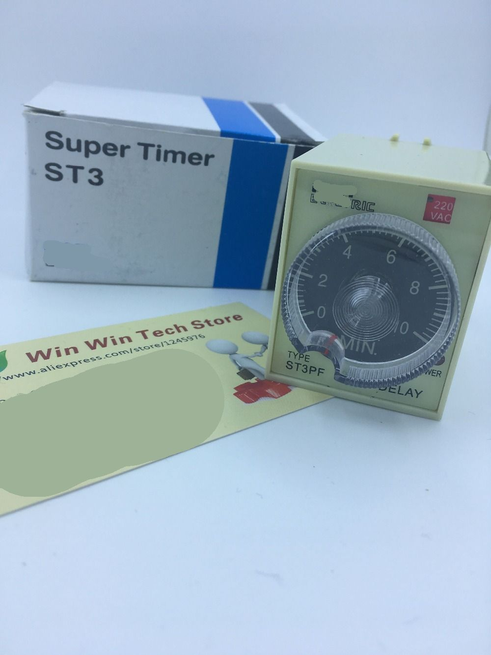 New original 220V AC Power Off Delay Timer Time Relay 10 minutes 60 seconds, 30 seconds, 10 seconds ST3PF & Base ST3PF free shipping dc 24v 0 60s 60 seconds rotary knob timer time delay relay 8 pin ah3 3