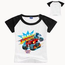 Kids New Children Short Sleeve T-Shirts Boy Girl Tee Boys Tops Monster Machine Blazing Speed  Car Cartoon Chothes