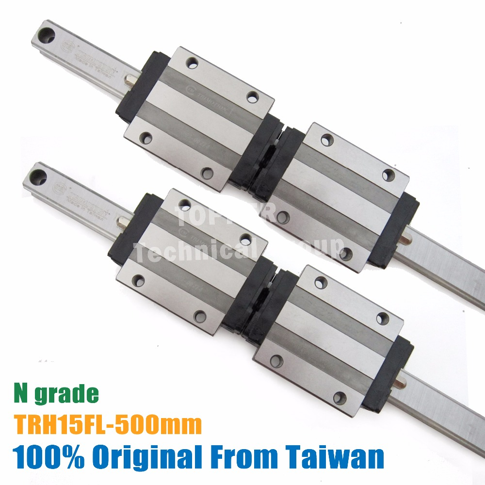 TBI TR15N 500mm linear guide rail with TRH15FN slide blocks for CNC parts