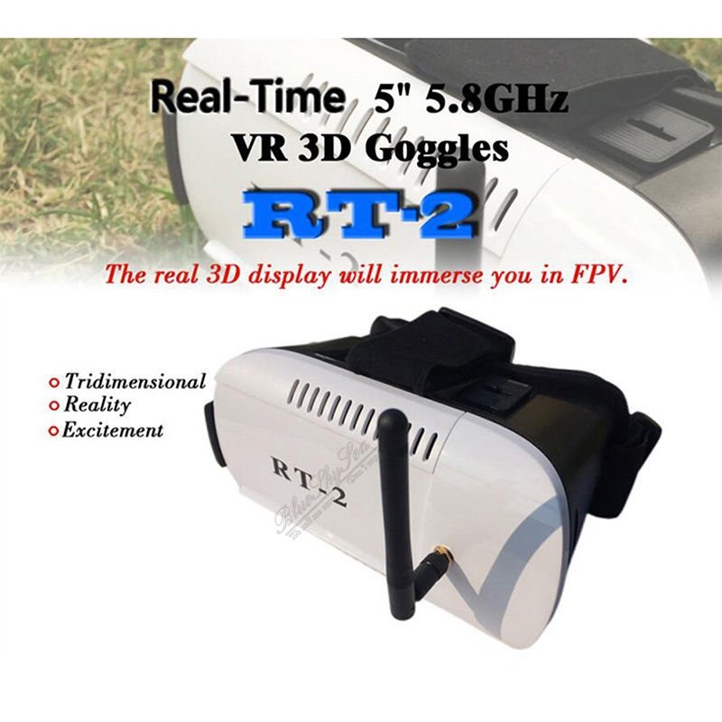 Free Shipping RT2 3D Virtual Reality font b VR b font Video FPV Goggles Glasses for