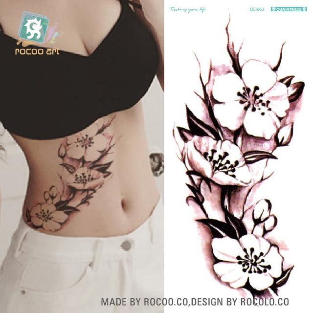 Green Tattoo Fashion Personality Tide Female Lotus Tattoo Stickers Custom Tattoo Stickers QC-663