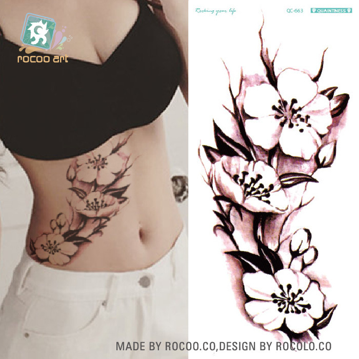 Green tattoo fashion personality tide female lotus tattoo for Wholesale temporary tattoos