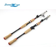 2.1m 2.4m 2.7m Spinning Casting Rods Carbon Fishing Rod Bass Fishing Tackle Lure Rods Vara De Pesca Telescopic Fishing Stick