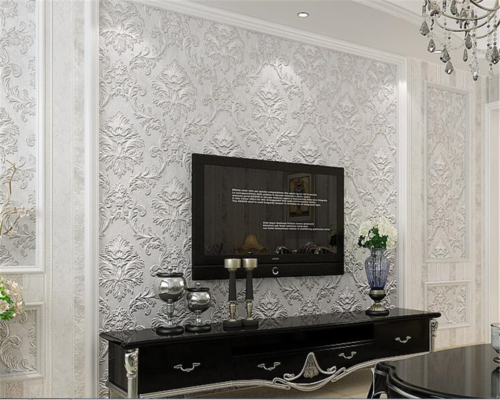 beibehang behang Luxury 3D wallpaper living room home decoration non-woven fabric wall Damascus background wallpaper wall rollbeibehang behang Luxury 3D wallpaper living room home decoration non-woven fabric wall Damascus background wallpaper wall roll