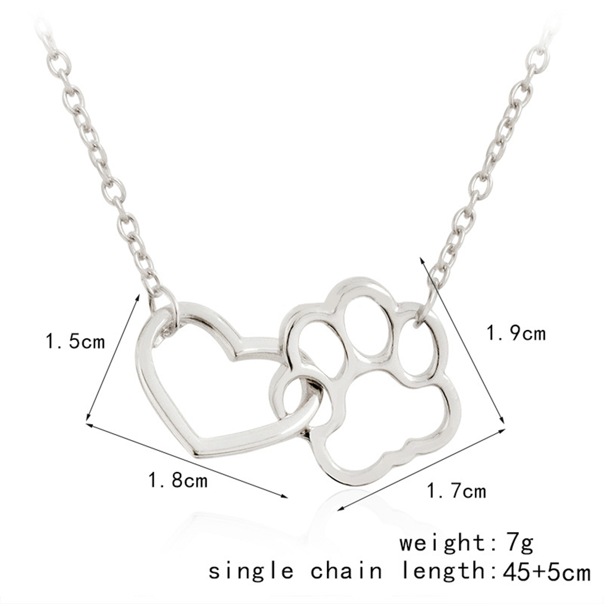 Pet Paw Footprint Necklaces For Women Girls Jewelry