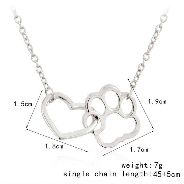 Women's Paw Footprint Shaped Necklaces