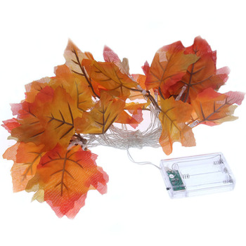 3m 20 led Autumn Maple Leaves LED Fairy String Garland Lights Battery Operated Christmas holiday living room Decoration