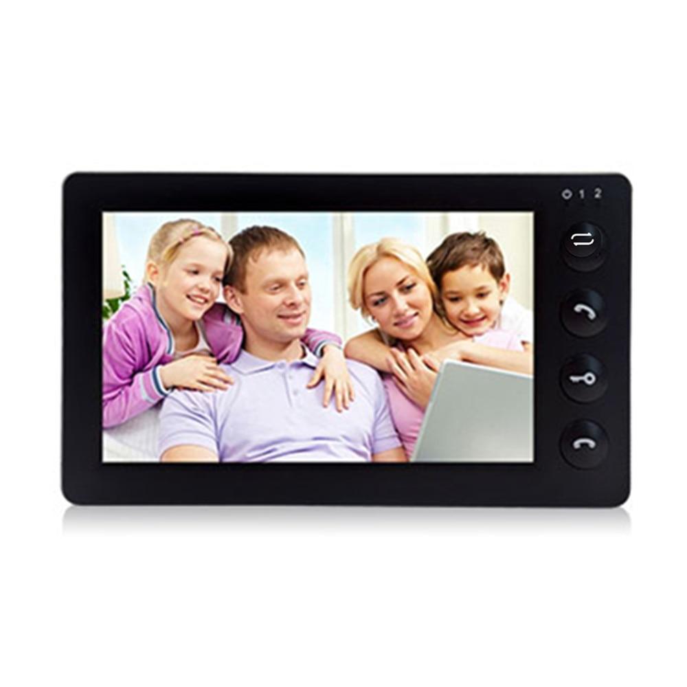 "Купить с кэшбэком Dragonsview Video Intercom for Home 7"" Video Doorbell Camera with Monitor Wide Angle 2.3 mm Lens Unlock Recording 16GB SD card"