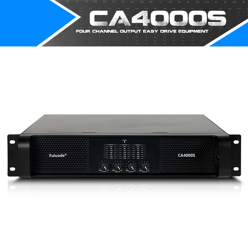 Fuluode Professional Pure Rear Power Amplifier Ultra High Power One Drag Four 4Channel Stage Performance CA4000S