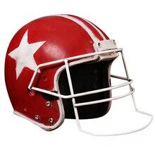 Creative American Football Helmet Statue Resin Craft Home Decoration Desk Decor Tabletop Figurine Ornament Birthday Gifts