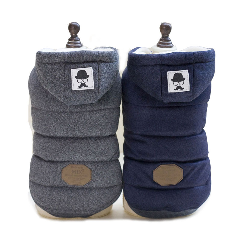 New Mustache Hooded Style Pet Dog Thick warm Winter Coat Clothes S XXL Dog Coat Dogs Clothes C68