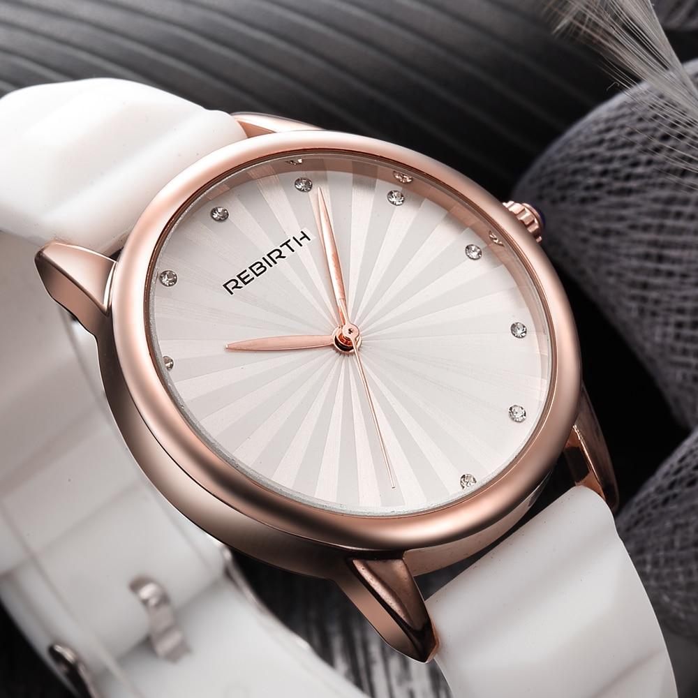REBIRTH Brand Luxury Quartz Watch Simple Fashion Diamond Elegant Ladies Wristwatches for Women Watches reloj mujer цена