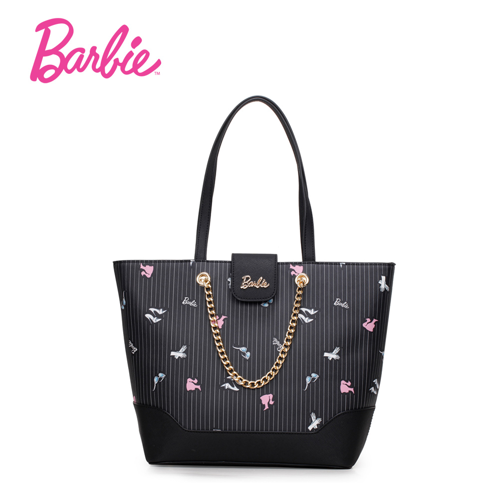все цены на  Barbie Women hand Bags 2017 Fashion Handbags Soft PU Leather Large Capacity Tote Bag Casual Messenger bag for woman  онлайн