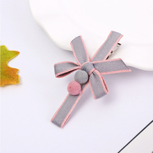 2019 New Fabric Bow Hairpin Korean Version Of The Ball Clip Popular Hair Accessories Ladies Headwear