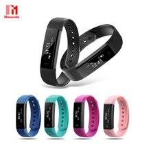 Id115 pulsera inteligente rastreador de ejercicios paso contador monitor de actividad band pulsera de reloj de alarma de vibración para iphone android teléfono