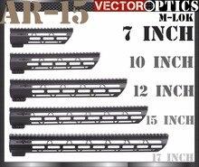 Vector Optics Tactical M-LOK Fino 7 10 12 15 17 polegada Livre flutuador Handguard Picatinny Rail Mount Bracket fit 223 5.56 AR 15 M4 M16