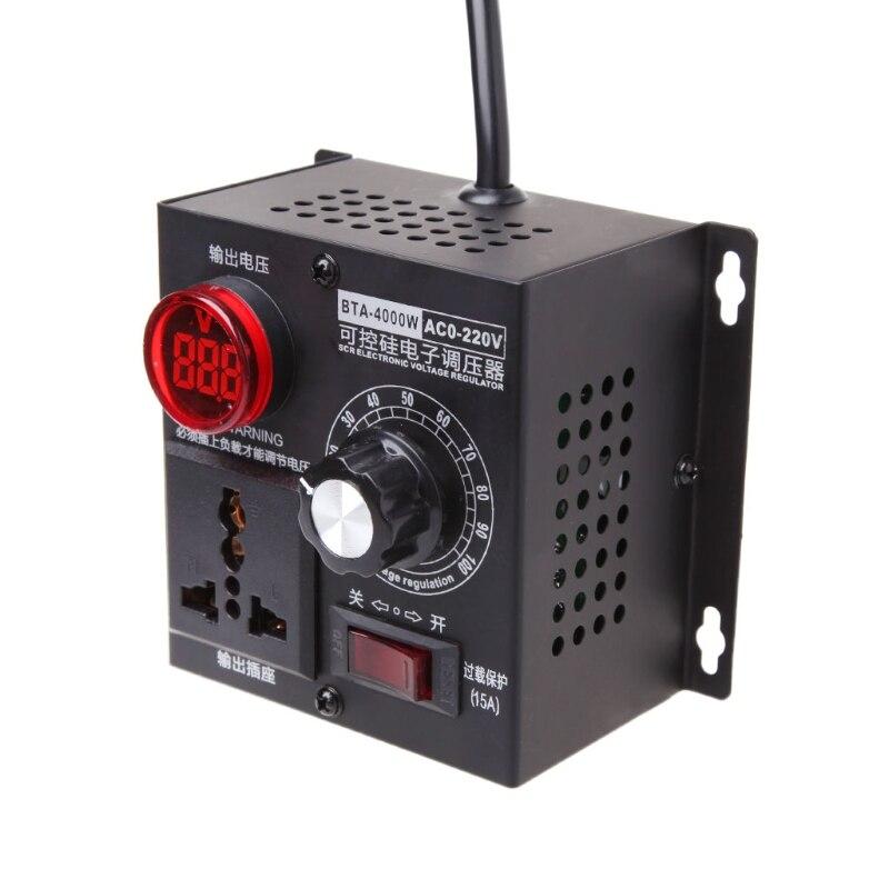 Regulador del regulador de voltaje de CA regulador digital de tiristores Regulador de voltaje electr/ónico Regulador 220V 4000W SCR