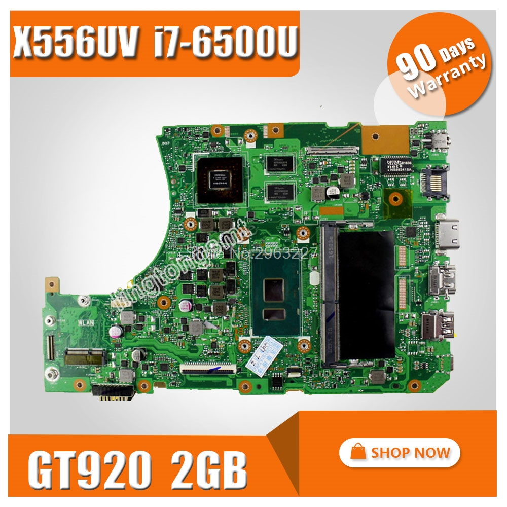 For ASUS X556U X556UV X556UV X556UB X556UR Motherboard CPU i7-6500U REV:3.0 <font><b>GeForce</b></font> <font><b>920M</b></font> 2GB Mainboard 100% tested image