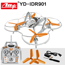 Attop YD-IDR901 RC Toys Helicopter Drones with Camera Quadcopter 6 Axis Gyro 2.4GHz 4CH Locked Aerobatics Best Gift for kids#N