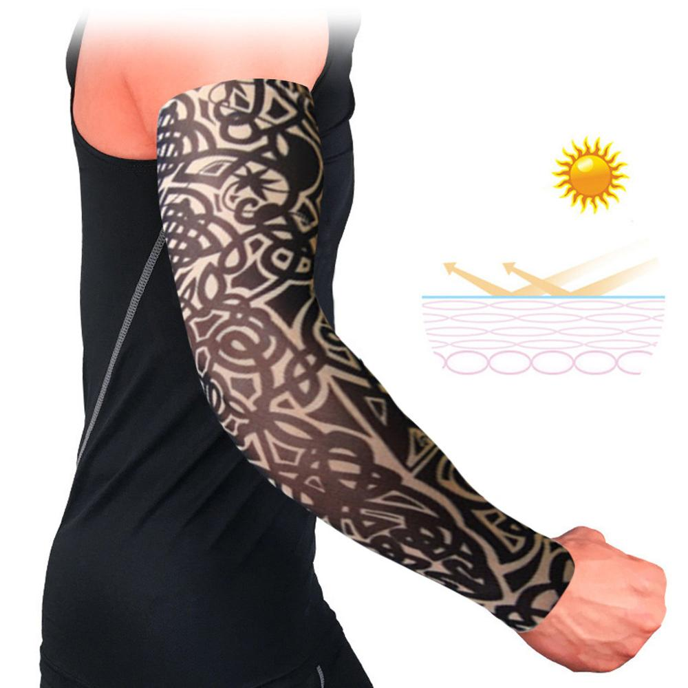 Summer Outdoor Sports Cool Cycling Bike Bicycle Cuff Cover UV Sun Protection Basketball Arm Sleeve Cycling Simulation SKin