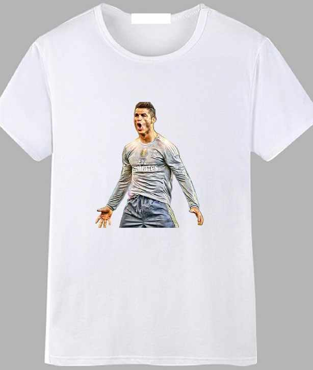 853509ee3 T-SHIRT CRISTIANO RONALDO CR7 REAL MADRID CALCIO footballer TEE UOMO DONNA  BAMBINO