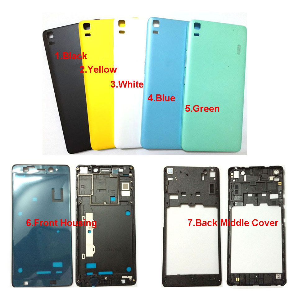 For Lenovo K3 NOTE K50-T5 A7000 New Original Battery Back Cover Door Phone Housing Case battery door middle plate front housing